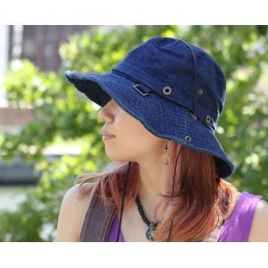 キャンプ 帽子 レディース メンズ  サファリハット ひも付き UV フェス 帽子 デニム アウトドア 大きい フェス 送料無料|protocol|04
