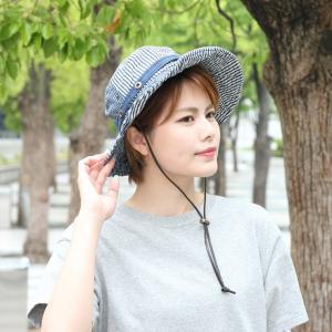 キャンプ 帽子 レディース メンズ  サファリハット ひも付き UV フェス 帽子 デニム アウトドア 大きい フェス 送料無料|protocol|06