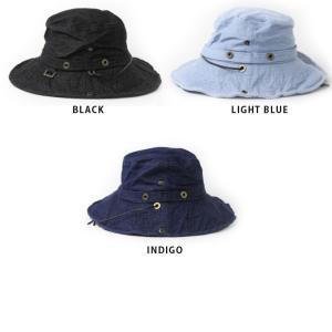 キャンプ 帽子 レディース メンズ  サファリハット ひも付き UV フェス 帽子 デニム アウトドア 大きい フェス 送料無料|protocol|07