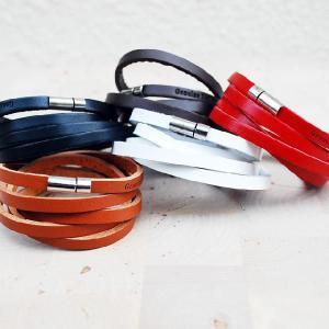 レザー 重ね巻きブレス ブレスレット THIN レザー ロング ブレスレットL -男女兼用 革ブレスレット-|protocol