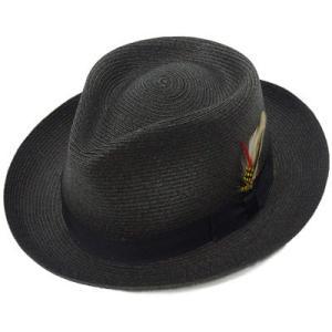 帽子 メンズ ストローハット NEW YORK HAT ニューヨークハット #2319 SEWN BRAID FEDORA 返品・交換不可|protocol