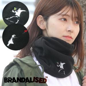 バンクシー Banksy ネックウォーマー メンズ レディース ネックゲイター BRANDALISED ブランド 防寒 スノボ バイク ゴルフ おしゃれ かわいい 防風 protocol