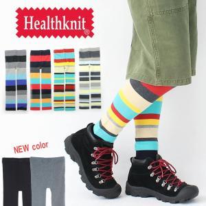 レギンス レディース メンズ ヘルス ニット Healthknit マルチカラー ボーダー キャンプ 服 服装 レギンスパンツ美脚 protocol