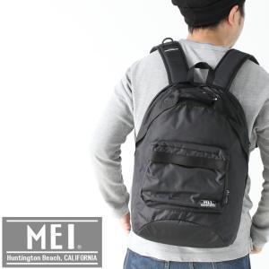 アウトドアブランド リュック mei 黒 メンズ レディース デイパック MEI ナイロン リュック 旅行 通勤 通学 キャンプ ファッション protocol