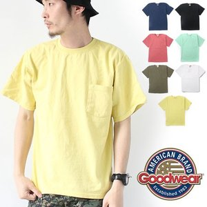 グッドウェア Tシャツ メンズ ポケt Goodwear レギュラー FIT 半袖 ポケット クルー TEE  / メンズ 半袖 カットソー Tシャツ ポケT protocol