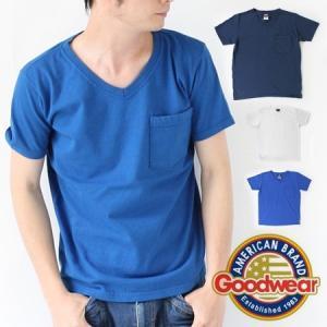 グッドウェア ポケt vネック スリムフィット サイズ Good Wear Tシャツ GDW-204 メンズ|protocol