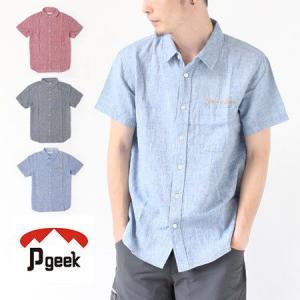 シャツ メンズ 半袖 Pgeek コットン ヘンプ ショートスリーブ カジュアル|protocol