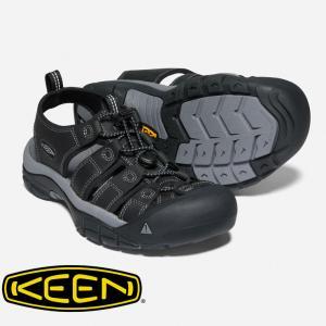 KEEN キーン ニューポート Black/Steel Grey 1022247 メンズ キャンプ アウトドア サンダル|protocol
