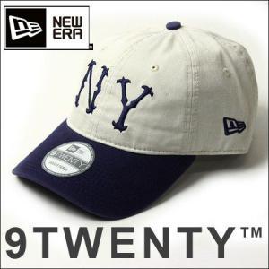 NEWERA ニューエラ メンズ 帽子 通販 キャップ  11440118  9TWENTY ニューヨーク・ハイランダーズ クーパーズタウン アイボリー×ライトネイビー|protocol