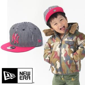 帽子 メンズ  ニューエラ キッズ デニム New Era 帽子 Youth 9FIFTY ジャパンヒッコリー ニューヨーク ヤンキース ヒッコリー ストロベリー 11781009 / 送料無料|protocol