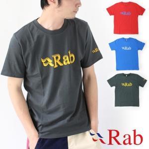 Tシャツ メンズ ブランド Rab ラブ STACKED TEE 半袖 QCA-28|protocol