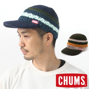 チャムス 帽子 ニット帽 CHUMS ボーダーニットキャップ CH05-1216 つば付きニット帽 レディース メンズ 秋冬 秋 冬 アウトドアブランド|protocol