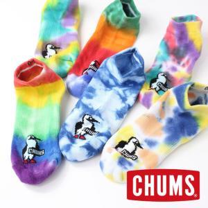 キャンプ 靴下 チャムス ソックス メンズ レディース 靴下 CHUMS  タイダイ アンクルソックス CH06-1080|protocol