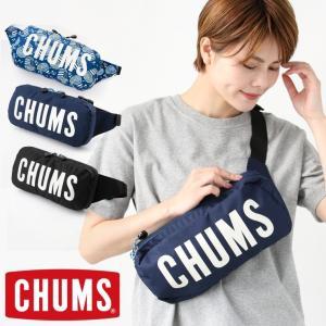 キャンプ 服装 女子 春 アウトドア チャムス ショルダーバッグ chums エコチャムスロゴウエストバッグ CH60-2558 ボディーバッグ protocol
