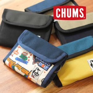 チャムス 財布 メンズ 二つ折り CHUMS トリフォルドウォレット スウェットナイロン CH60-2688 レディース キャンプ アウトドアブランド|protocol