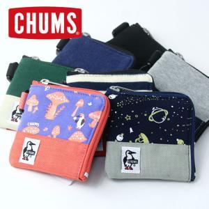 チャムス コインケース CHUMS スクエアコインケース スウェットナイロン CH60-2689 財...