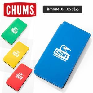 チャムス スマホケース CHUMS ターポリン ダイアリーケース フォー アイフォン iphone10 iphone10s スマホ CH62-1486|protocol