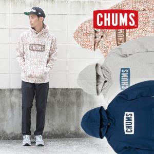 チャムス パーカー メンズ CHUMS Logo Pull Over Parka ロゴ プルオーバー CH00-1085|protocol