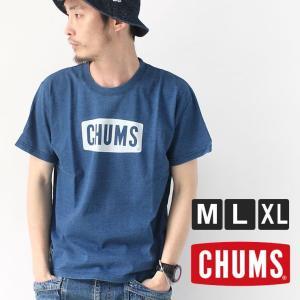 チャムス Tシャツ メンズ 半袖 CHUMS インディゴ CH01-1337|protocol