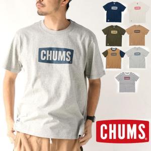 CHUMS チャムス Tシャツ メンズ ロゴT CH01-1833 キャンプ CHUMS Logo ...