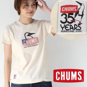 チャムス Tシャツ レディース 新品 CHUMS 35th Anniversary T-Shirt 35週年 記念 アニバーサリーTシャツ CH11-1388|protocol