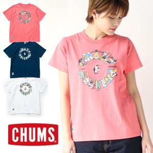 チャムス Tシャツ レディース 新品 CHUMS クレイジー ウィークエンド Tシャツ 春 夏 春夏 CH01-1481 / 送料無料|protocol