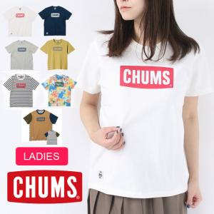 チャムス tシャツ レディース CHUMS キャンプ 服装 女子 CHUMS ロゴ Tシャツ CH01-1833 春 夏 春夏 protocol