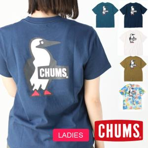 CHUMS チャムス キャンプ 服装 女子 春 Tシャツ レディース ブービーロゴ バックプリント CH01-1835 春夏 夏 protocol