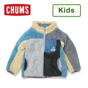 チャムス キッズ ジャケット 子供服 CHUMS キッズボンディングフリースジャケット CH24-1035 アウトドア フリース 男の子 女の子|protocol