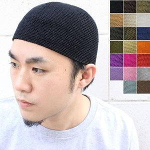 ニット帽 メンズ コットン 手編み 帽子 ニット帽 メンズ コットン 綿100% ビーニー 綿 キャンプ|protocol