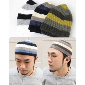 帽子 メンズ  イスラム帽 イスラム帽子 メンズ イスラムワッチ イスラムキャップ マルチボーダー イスラム メール便 送料無料|protocol|02