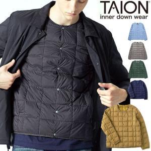 タイオン インナーダウン メンズ XL TAION ダウンジャケット クルーネックボタン インナーダウンジャケット TAION-104|protocol
