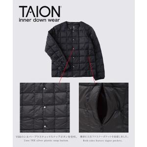 タイオン インナーダウン メンズ XL TAION ダウンジャケット クルーネックボタン インナーダウンジャケット TAION-104|protocol|02