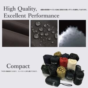 タイオン インナーダウン メンズ XL TAION ダウンジャケット クルーネックボタン インナーダウンジャケット TAION-104|protocol|04