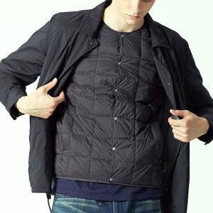 タイオン インナーダウン メンズ XL TAION ダウンジャケット クルーネックボタン インナーダウンジャケット TAION-104|protocol|05