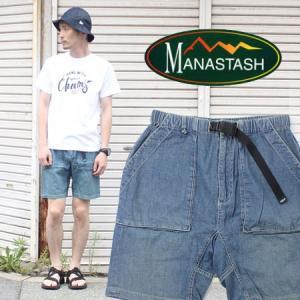 マナスタッシュ ハーフパンツ メンズ MANASTASH STRETCH HEMP DENIM BAIKER SHORTS 【お一人様1点限り】【返品・交換不可】|protocol