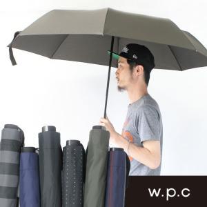 w.p.c 男性用傘 紳士傘 ジャンプ傘 耐風骨 耐風 折りたたみ傘フェス 便利グッズ|protocol
