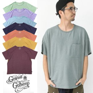 Tシャツ メンズ ゴーヘンプ Tシャツ GO HEMP WIDE PK TEE ワイド ポケット TEE / 送料無料|protocol