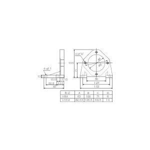 ダイキン工業 ピストンポンプ用フート(V38M)|protools