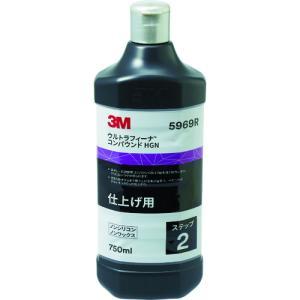 スリーエム ジャパン 3M ウルトラフィーナ コンパウンド HGN 5969R 仕上げ用 液状 750 (5969R)|protools