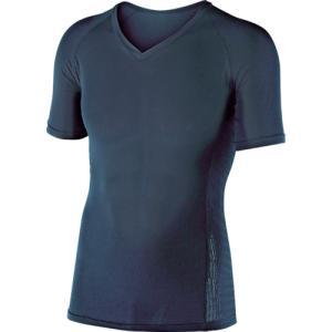 おたふく手袋 BT冷感 パワーストレッチ 半袖Vネックシャツ ブラック LL(JW-622-BK-LL) protools