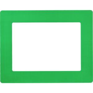 日本緑十字社 路面用区画標識(A4用紙対応タイプ) 緑 312×398mm 裏テープ付(403112) protools