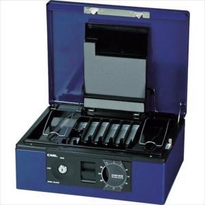 カール事務器 手提げ金庫 キャッシュボックス CB−8760−B ブルー A4サイズ(CB-8760-B)|protools