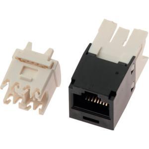 パンドウイットコーポレーション カテゴリ6モジュラージャック 黒 CJ688TGBL(CJ688TGBL)|protools