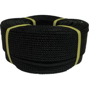 ユタカメイク ロープ PEロープ巻物 5φ×200m ブラック(PE-94)|protools