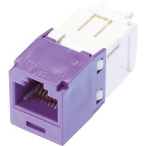 パンドウイットコーポレーション カテゴリ6モジュラージャック 紫(CJ688TGVL)|protools