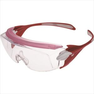 ミドリ安全 小顔用タイプ保護メガネ オーバーグラス VS−303F ピンク(VS-303F-PK)|protools