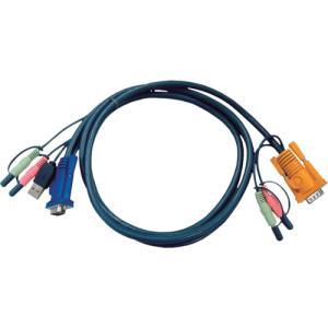ATENジャパン USB KVMケーブル オーディオ対応 SPHD KVM用 1.8m(2L-5302U)|protools