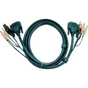 ATENジャパン DVI KVMケーブル 1.8m(2L-7D02U)|protools