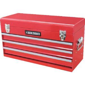 ワールドツール アストロプロダクツ ツールボックス 3段 ベアリング レッド BX763 (2003000007633)|protools